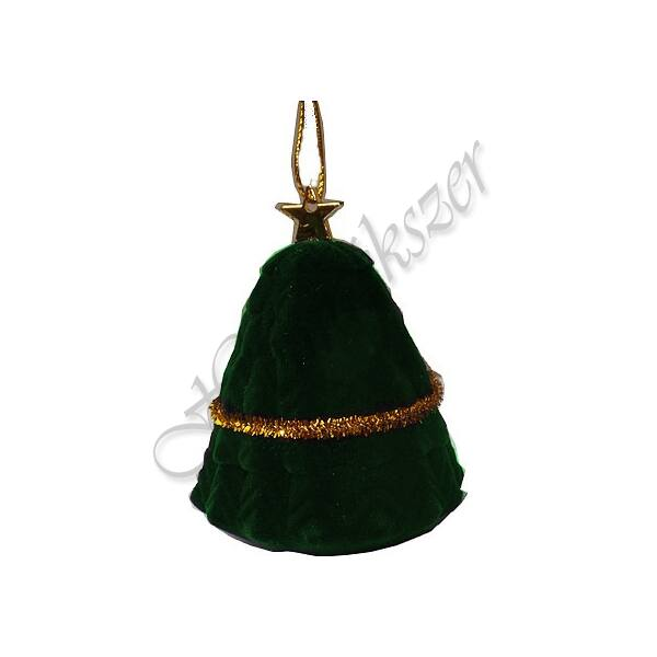 Karácsonyfa gyűrű-fülbevaló-medál ékszertartó díszdoboz