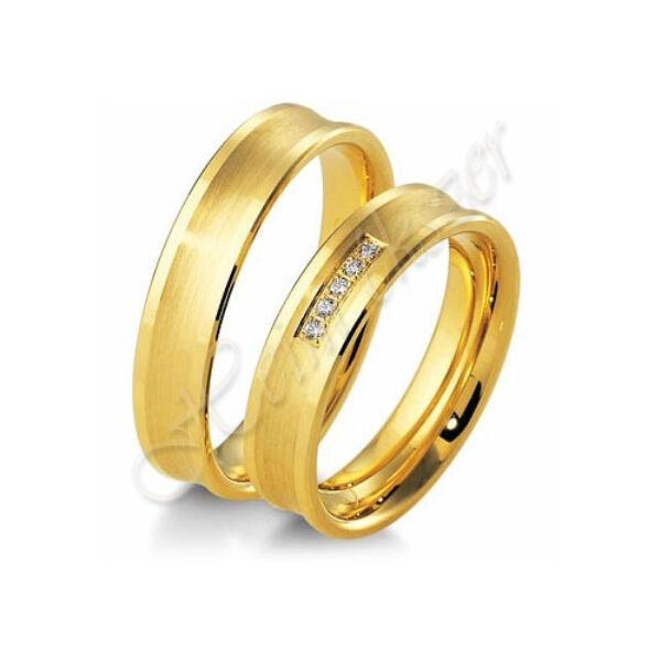 Arany ékszer, egyedi karikagyűrű  38