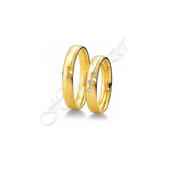 Klasszikus karikagyűrű jegygyűrű, arany ékszer ( 02 )
