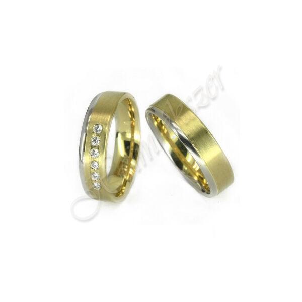 Egyedi karikagyűrű - jegygyűrű, arany ékszer ( 04 )
