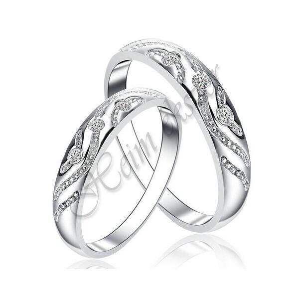 Egyedi karikagyűrű, jegygyűrű ( 72 ), arany ékszer
