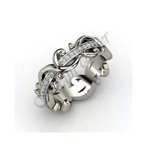 Barokk gyűrű, egyedi arany ékszer
