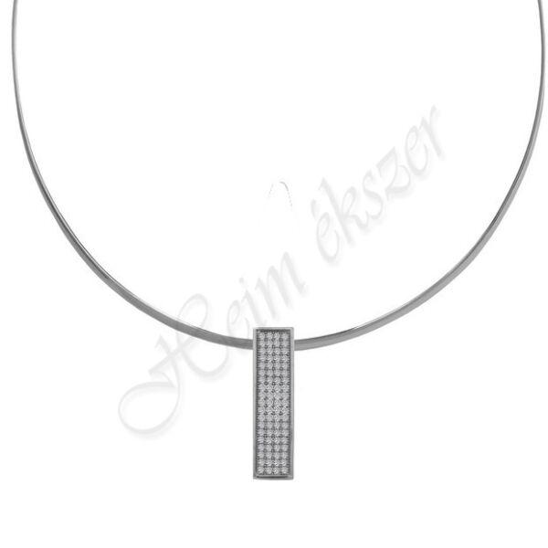 Merev ezüst nyakék köves medállal Heim ékszer webáruház