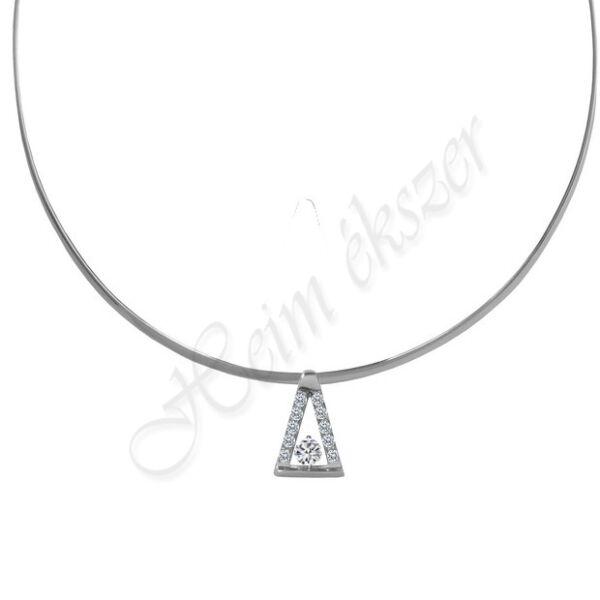 Merev ezüst nyakék medállal Heim ékszer webáruház