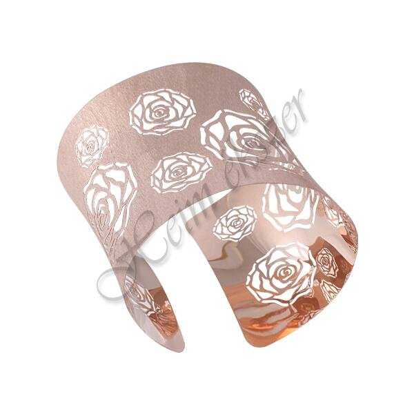 Rose arany színű mutatós ezüst karkötő, ezüst ékszer