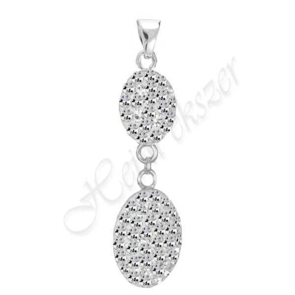 Swarovski kövekkel díszített ezüst medál Heim Ékszer webáruház2