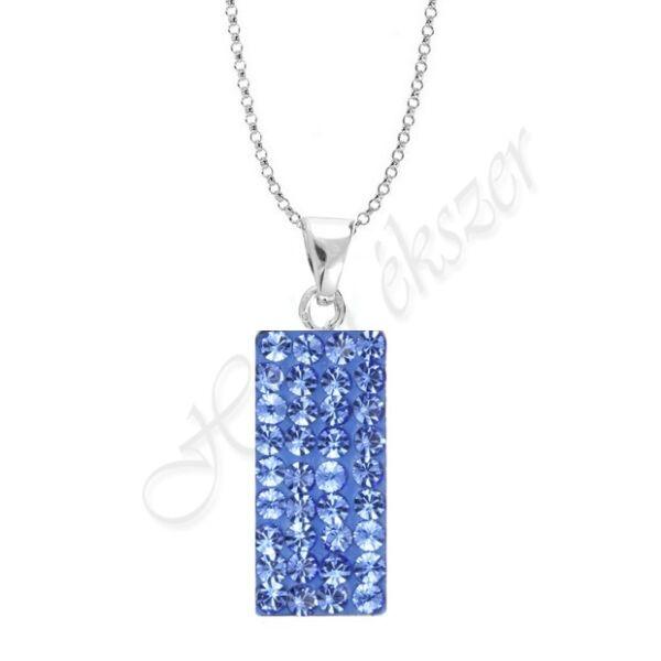 Swarovski kövekkel díszített kék ezüst medál Heim Ékszer webáruház