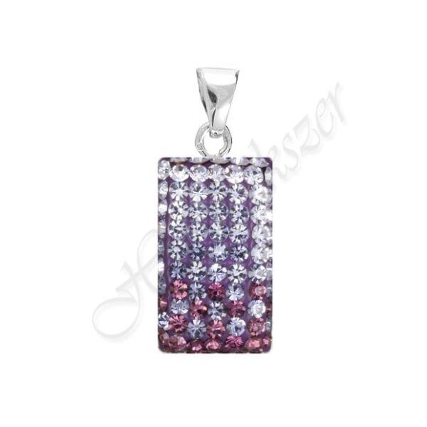 Swarovski kövekkel díszített lila ezüst medál Heim Ékszer webáruház