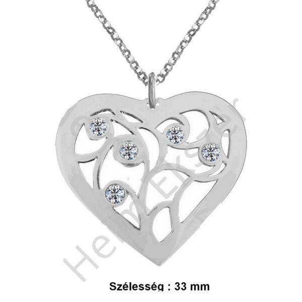 sziv-medal-feher-kovel-nyaklanccal-heim-ekszer-webruhaz