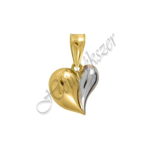 Pufi szív medál, arany ékszer