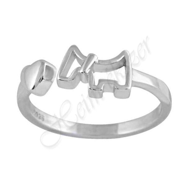 szíves-kutyás gyűrű, Heim Ékszer webáruház