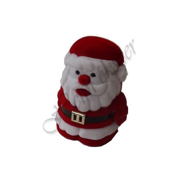 Télapós karácsonyi gyűrű-fülbevaló-medál díszdoboz