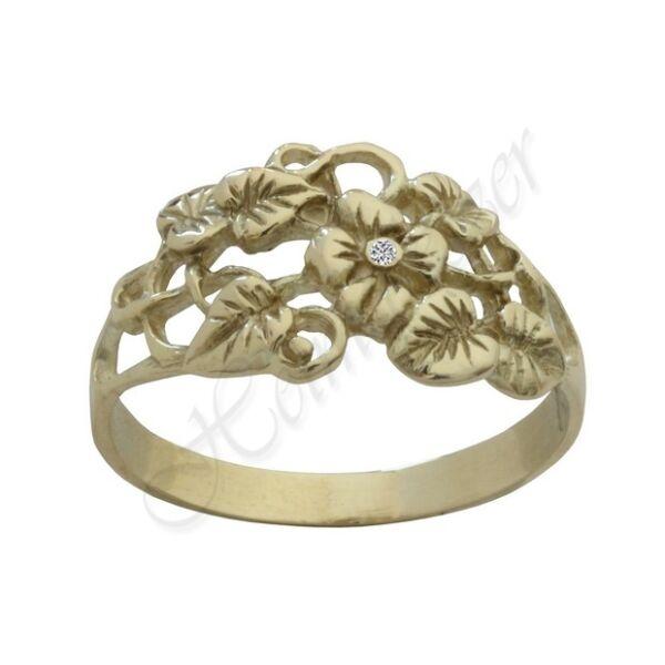 virágos arany gyűrű Heim Ékszer webáruház
