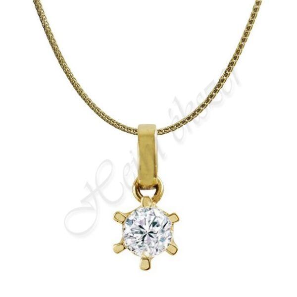 Vékony arany nyaklánc pici kő medállal Heim Ékszer webáruház