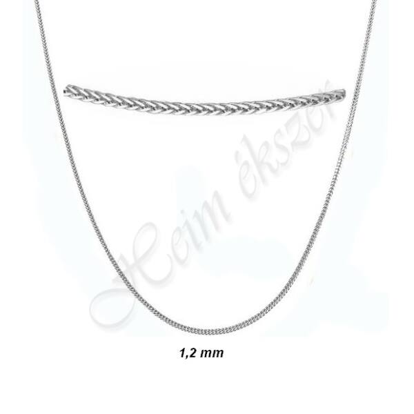 vékony fehér arany nyaklánc Heim Ékszer webáruház